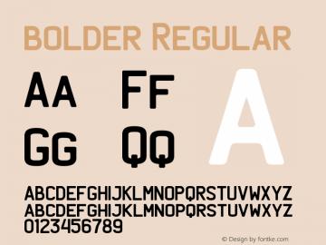 bolder Regular Version 1.000 Font Sample