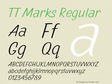 TT Marks Regular Version 1.000 Font Sample