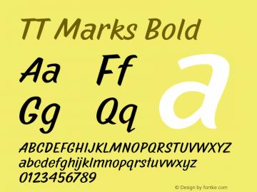 TT Marks Bold Version 1.000 Font Sample