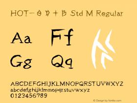 HOT-白舟甲骨 Std M Regular Version 1.000;PS 1;hotconv 1.0.38;makeotf.lib1.6.5960 Font Sample