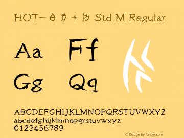 HOT-白舟甲骨 Std M Regular Version 1.000;PS 1;hotconv 1.0.38;makeotf.lib1.6.5960图片样张