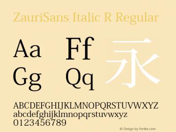 ZauriSans Italic R Regular Version 6.003 December 10, 2016图片样张