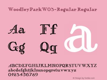 WoodleyParkW03-Regular Regular Version 1.00 Font Sample