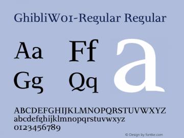 GhibliW01-Regular Regular Version 2.00 Font Sample