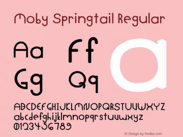 Moby Springtail Regular Moby v5.06 Font Sample
