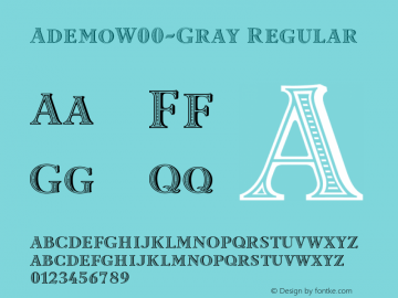 AdemoW00-Gray Regular Version 1.101 Font Sample