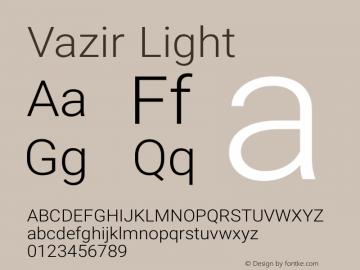 Vazir Light Version 6.3.3 Font Sample
