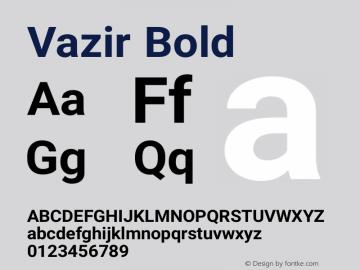 Vazir Bold Version 6.3.3 Font Sample