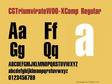 CGTriumvirateW00-XComp Regular Version 1.00图片样张