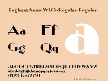 TugboatAnnieW03-Regular Regular Version 1.00 Font Sample