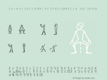 LinotypeHieroglyphesW95-One Regular Version 1.10 Font Sample