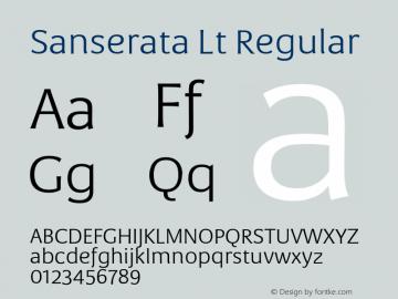 Sanserata Lt Regular Version 1.002 Font Sample