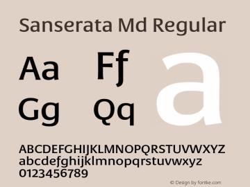 Sanserata Md Regular Version 1.002 Font Sample
