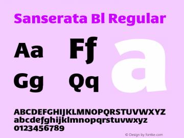 Sanserata Bl Regular Version 1.002 Font Sample