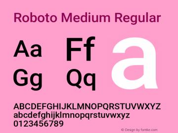 Roboto Medium Regular Version 2.136; 2016图片样张