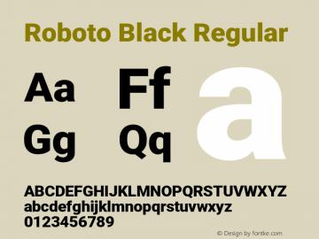 Roboto Black Regular Version 2.136; 2016图片样张
