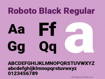 Roboto Black Regular Version 2.136图片样张