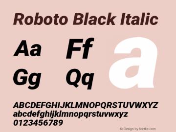 Roboto Black Italic Version 2.136图片样张