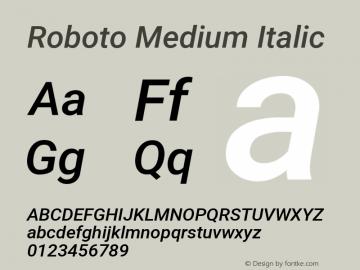 Roboto Medium Italic Version 2.136图片样张