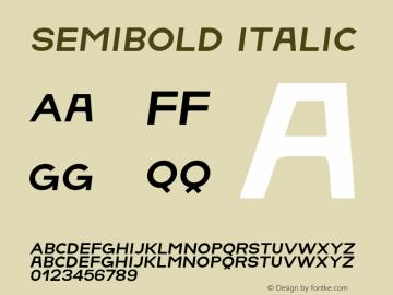 SemiBold Italic Version 1.001;Fontself Maker 1.0.3 Font Sample