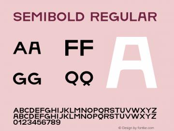 SemiBold Regular Version 1.001;Fontself Maker 1.0.3 Font Sample