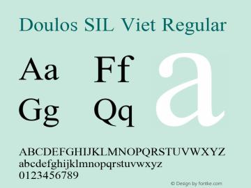 Doulos SIL Viet Regular Version 5.000 Font Sample