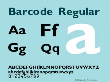 Barcode Regular Peninsula 27/7/01 Font Sample