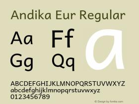 Andika Eur Regular Version 5.000图片样张