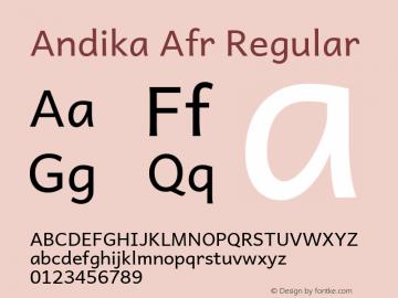 Andika Afr Regular Version 5.000 Font Sample