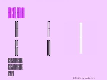 Barcode Regular Version 001.000 Font Sample
