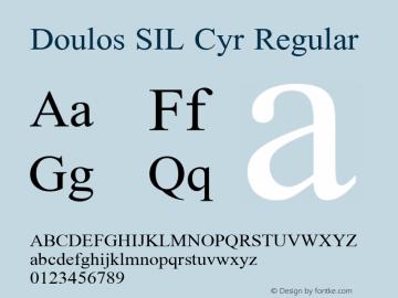 Doulos SIL Cyr Regular Version 5.000图片样张
