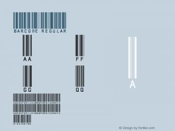 Barcode Regular Version 1.0 April 14, 2006 Font Sample