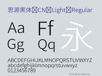 思源黑体 CN Light Regular Version 1.000;PS 1;hotconv 1.0.78;makeotf.lib2.5.61930 Font Sample