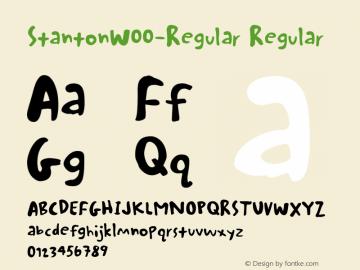 StantonW00-Regular Regular Version 1.00 Font Sample