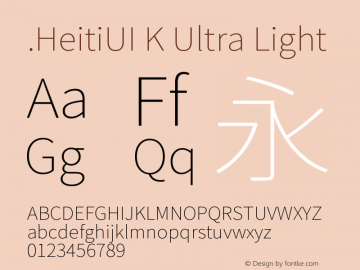 .HeitiUI K Ultra Light 9.0d9e3图片样张
