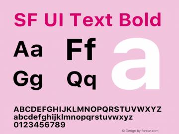 SF UI Text Bold 12.0d6e2 Font Sample