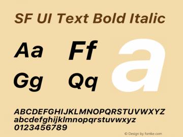 SF UI Text Bold Italic 12.0d6e2 Font Sample