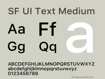 SF UI Text Medium 12.0d6e2 Font Sample