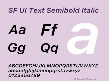 SF UI Text Semibold Italic 12.0d6e2 Font Sample