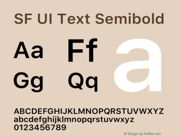 SF UI Text Semibold 12.0d6e2 Font Sample