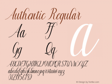 Authentic Regular Version 1.000; ttfautohint (v1.5)图片样张