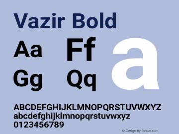 Vazir Bold Version 6.3.4 Font Sample