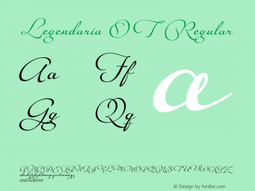 Legendaria OT Regular Version 1.000 2011 initial release Font Sample