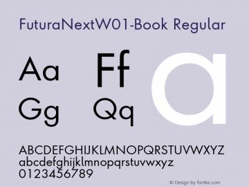 FuturaNextW01-Book Regular Version 1.512 Font Sample