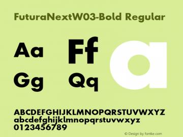 FuturaNextW03-Bold Regular Version 1.512 Font Sample