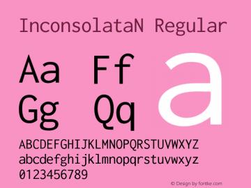 InconsolataN Regular Version 1.015 Font Sample