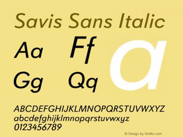 Savis Sans Italic Version 1.000图片样张