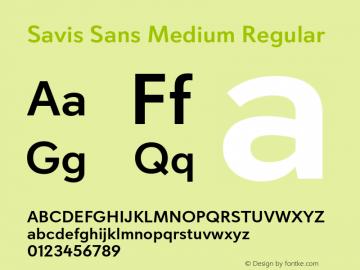 Savis Sans Medium Regular Version 1.000图片样张