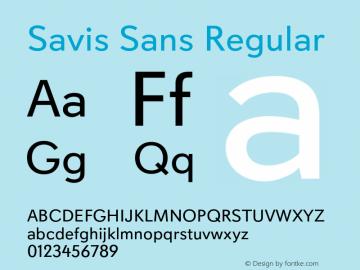 Savis Sans Regular Version 1.000图片样张
