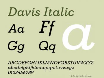 Davis Italic Version 1.000图片样张
